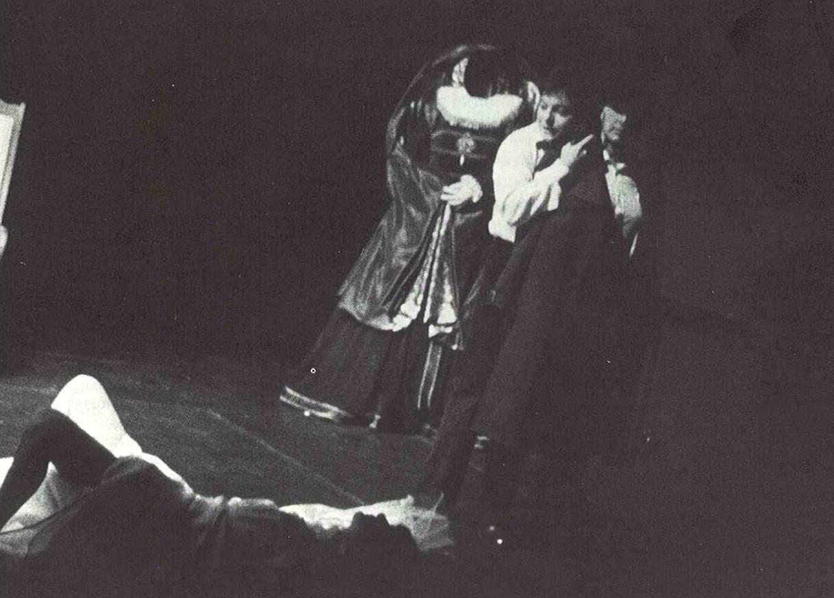 Hamlet-Machine, mise en scène Marc Liebens, Paris, 1980. Photo © Claude Bricage