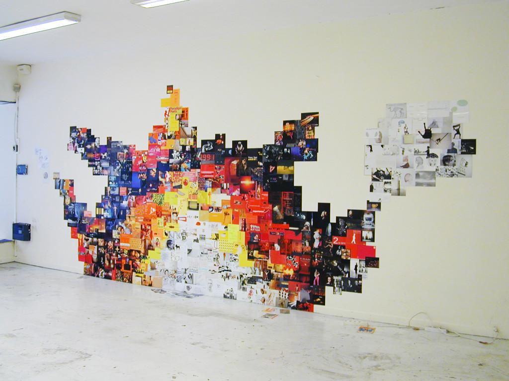 "Manuel Pomar, ""Black Out"", 2005, VolKSystem, Toulouse."