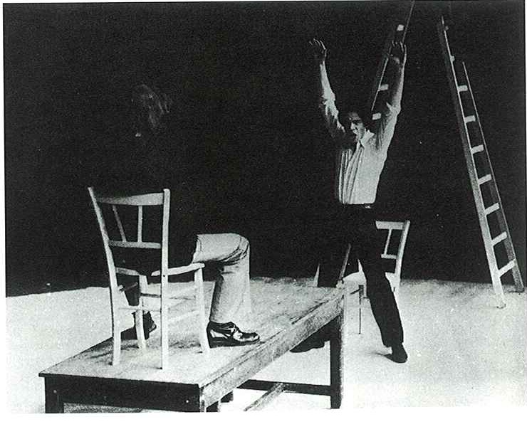 """Andromaque"" de Racine, mise en scène Antoine Vitez, 1971."
