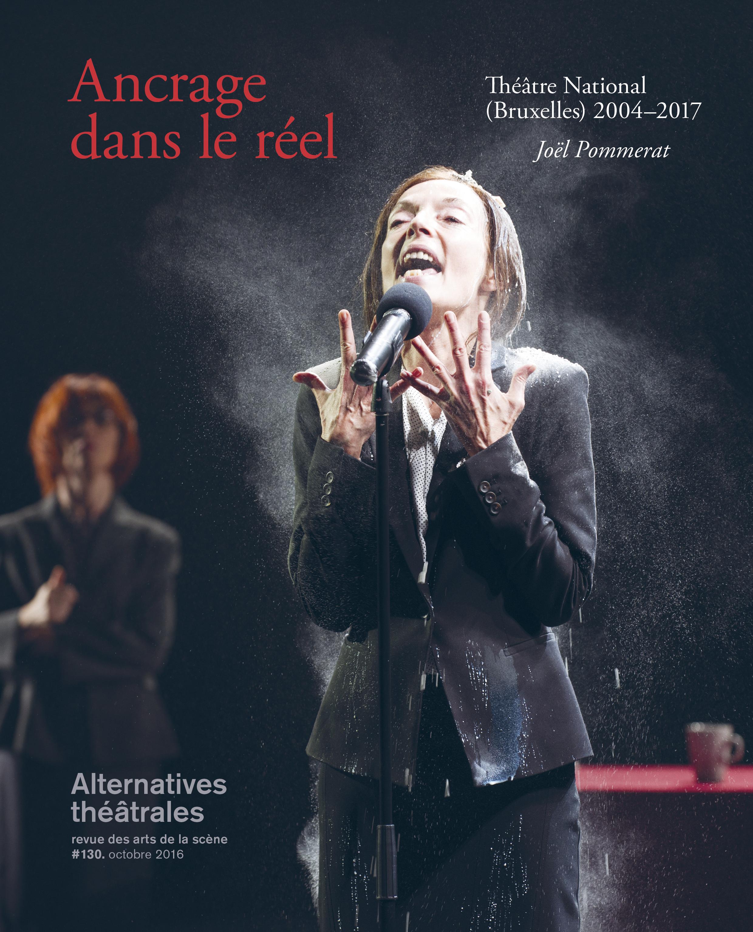 Agnès Berthon dans ça ira (1) Fin de Louis de Joël Pommerat. Photo Elizabeth Carecchio. Design Aline Baudet.