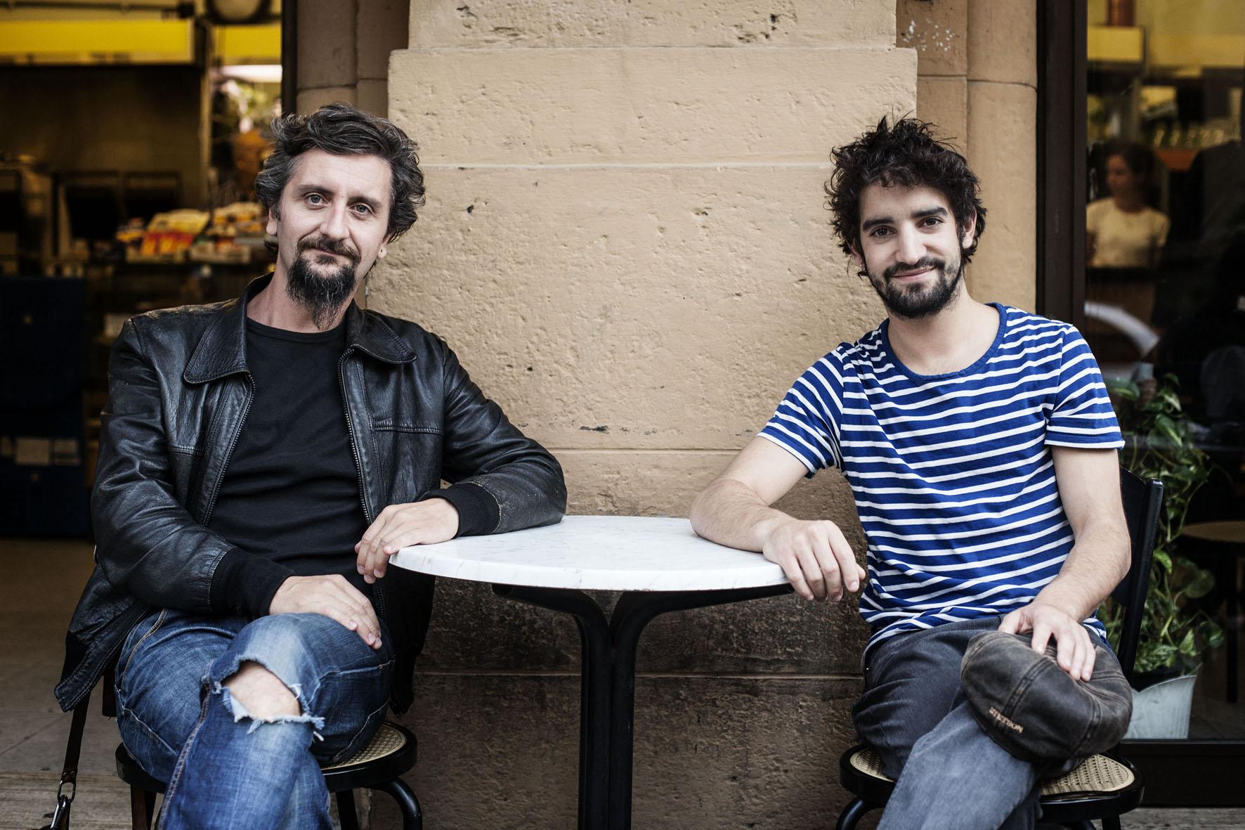 Ascanio Celestini et David Murgia au Teatro Palladium de Rome. Photo © MAILA IACOVELLI.