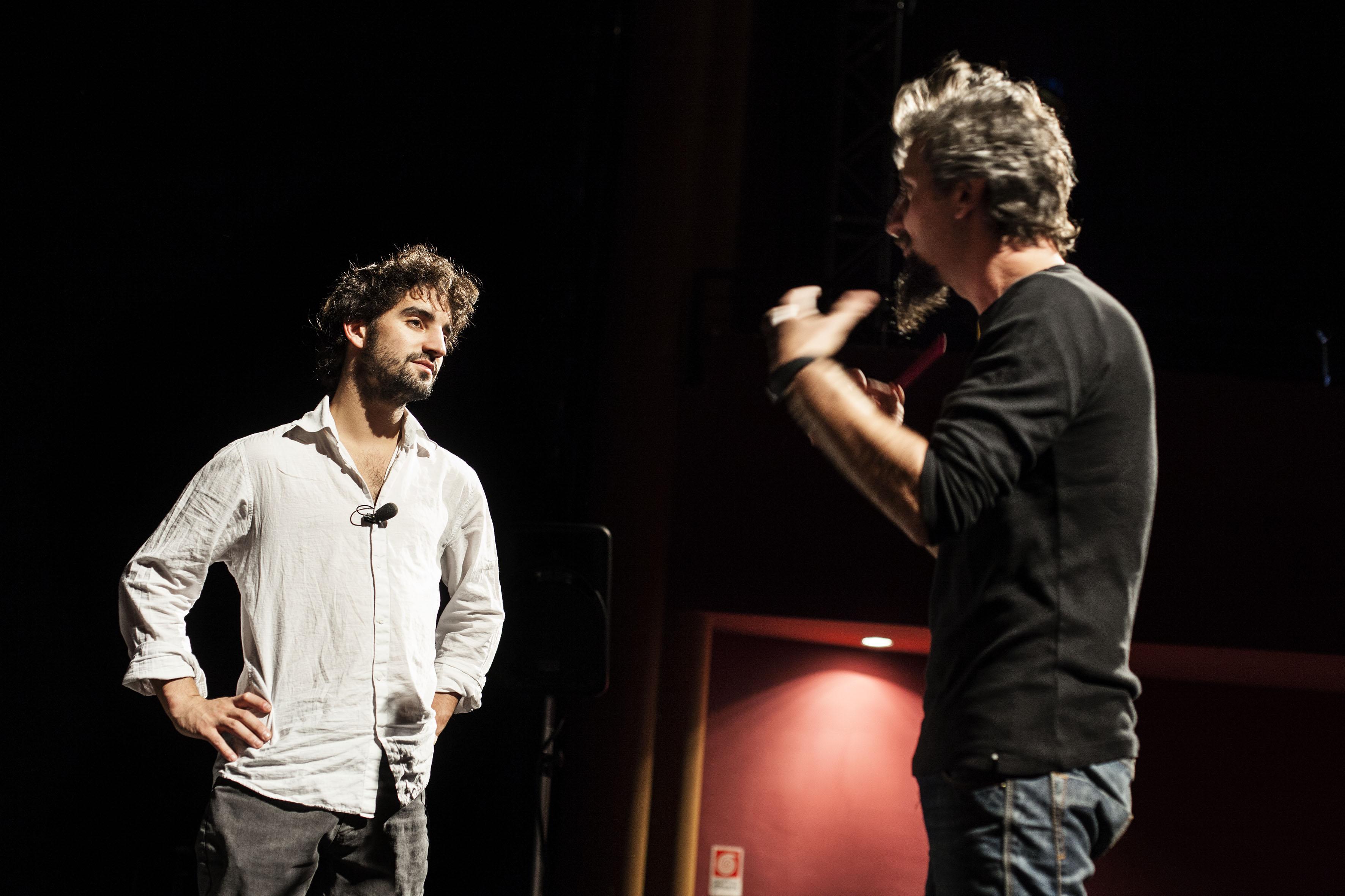 David Murgia et Ascanio Celestini. Photo Maia Iacovelli