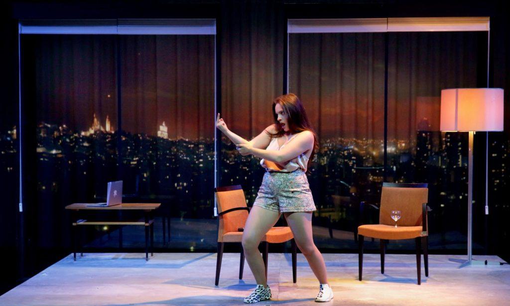 """Eline Schumacher dans """"Apocalypse bébé"""", mise en scène Selma Alaoui. Photo: Lou Hérion."""