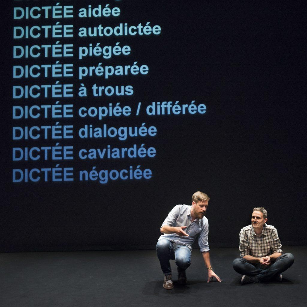 """Arnaud Hoedt et Jérôme Piron dans """"La Convivialité"""", photo Véronique Vercheval"""