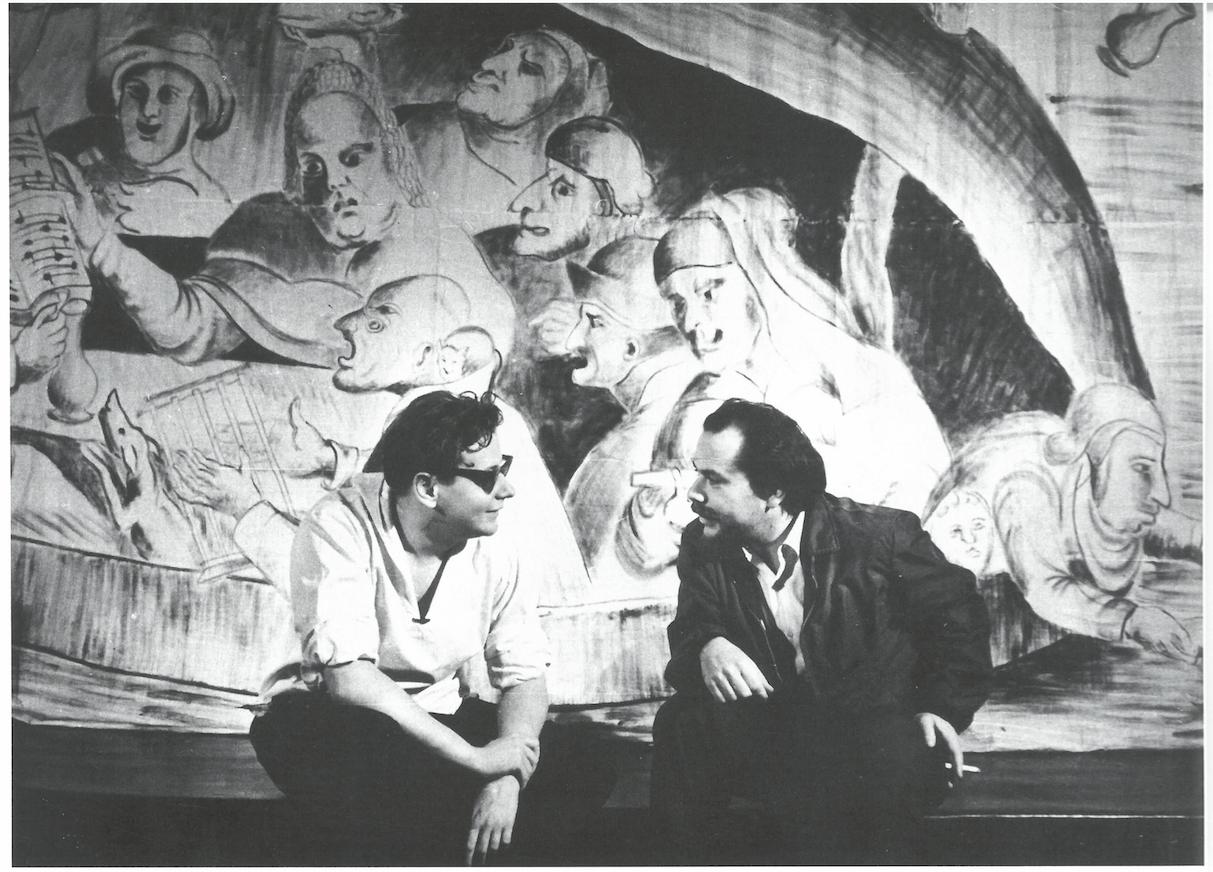 Jerzy Grotowski et Ludwik Flaszen, Opole (1960). Photo Leonard Olejnik (Arch. L'Institut Grotowski)