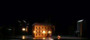 Scénographie du Barbier de Séville de Rossini (Thibault Sinay), mise en scène Damien Robert, Théâtre des Champs-Élysées, 2017. Photo Thibault Sinay.