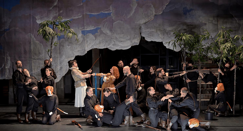 Hippolyte et Aricie de Jean-Philippe Rameau, mise en scène Jeanne Candel, Opéra Comique, 2020. © Stephan Brion